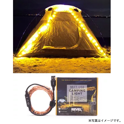 [7RGTH30WWDIM] TRAIL HOUND WARM WHITE CAMPING LIGHT 30FT USB