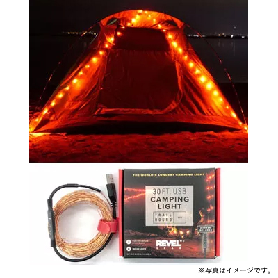 [7RGTH30REDDIM] TRAIL HOUND RED CAMPING LIGHT 30FT USB★