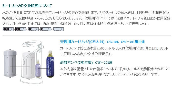 日本ガイシ ファインセラミック浄水器 C1 ハイグレード 据え置きタイプ ネイビー(CW-201-NB)