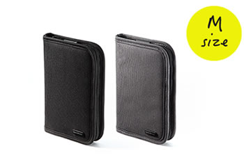 パスポートケース(トラベルオーガナイザー・11ポケット・航空券対応・Mサイズ)